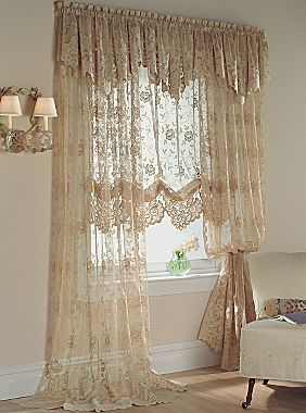 Jcp Home Shari Lace Rod Pocket Panel They Have A Subtle Rustic