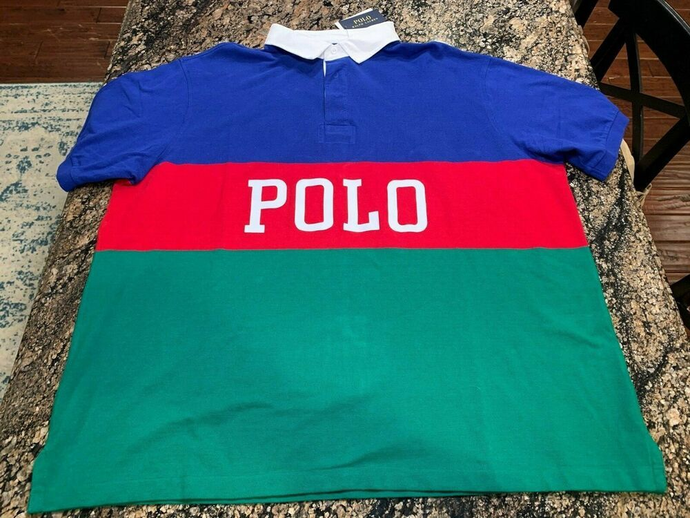 NEW Polo Ralph Lauren Shirt Short Sleeve Big /& Tall  Performance big pony 2XB