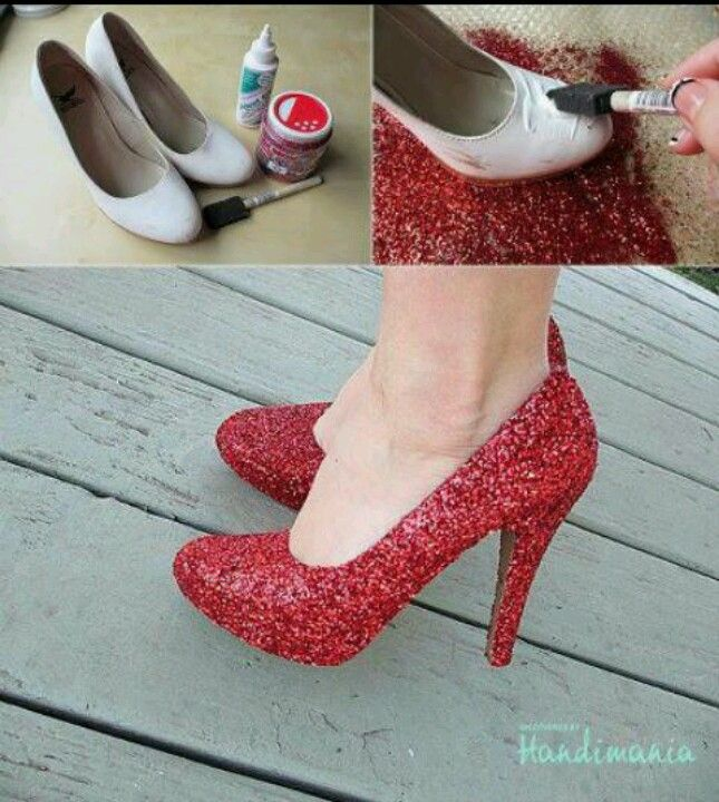 Diy Glitter Shoe This Is A Simple