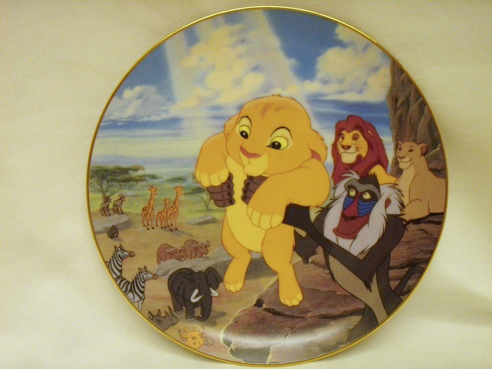 the lion king walt disney plate bradford exchange limited. Black Bedroom Furniture Sets. Home Design Ideas