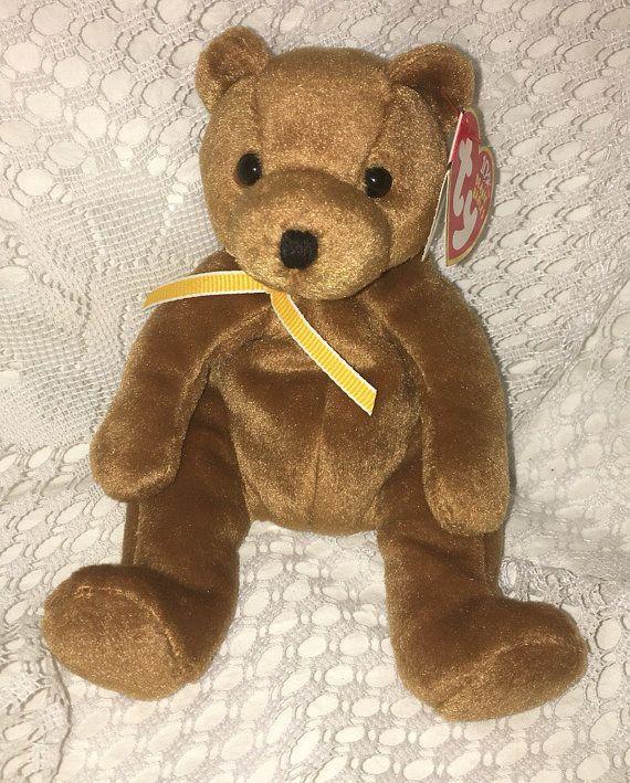 TY Beanie Baby Sherwood Brown Bear by JewelzVintage on Etsy ... daf8843b1b3