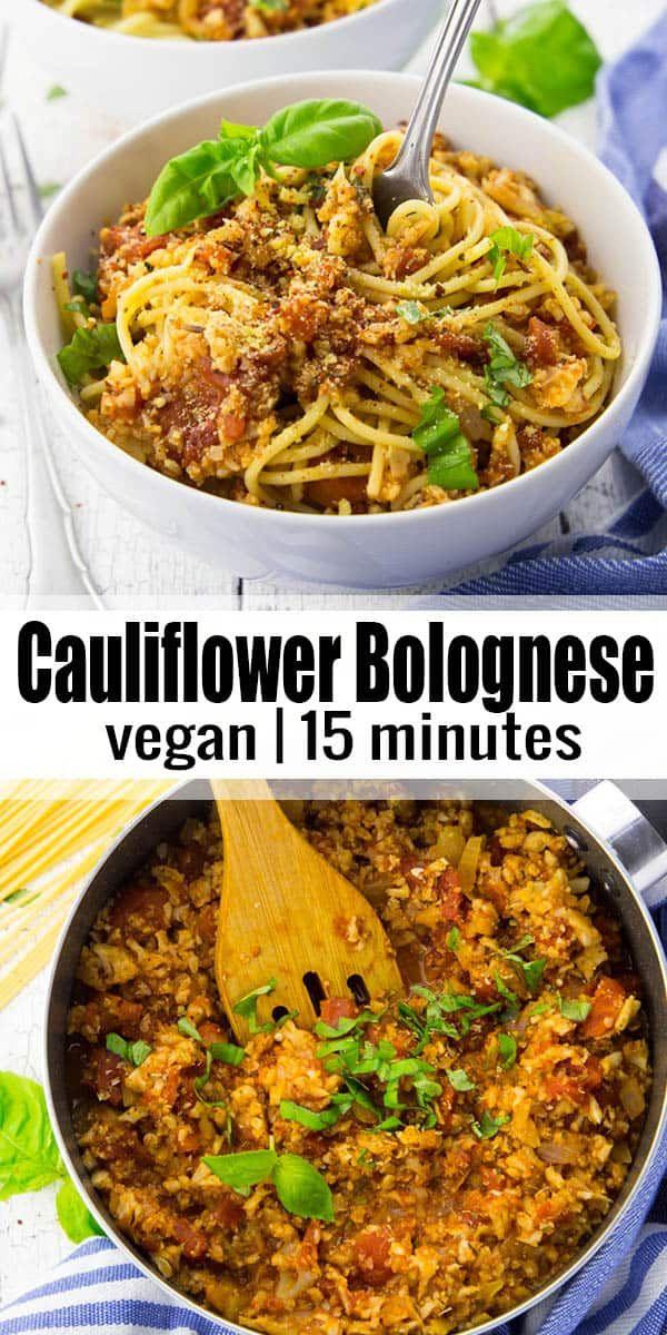 Cauliflower Bolognese Sauce