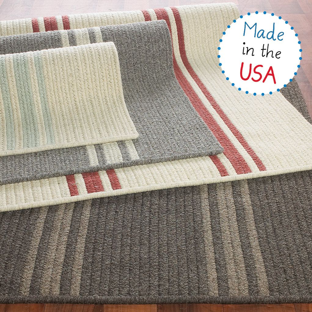 Turquoise Bath Rugs For Dry The Feet Simple Turquoise: French Feedsack Striped Rug