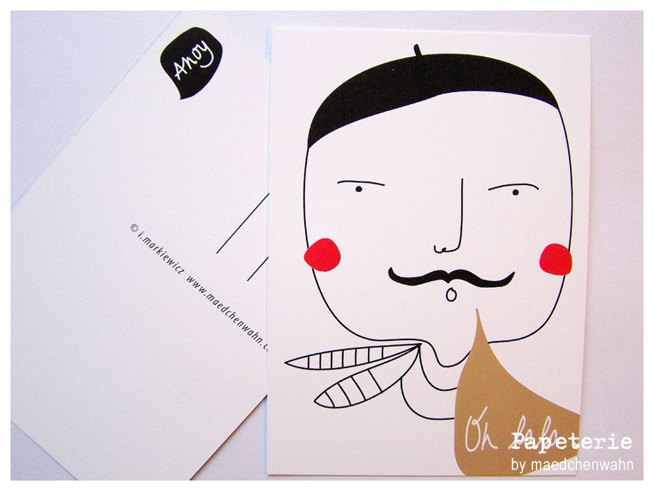 Oh LaLa Monsieur Postcard by Maedchenwahn.