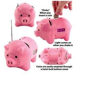 Piggy Bank Clock Radio Piggy Bank Piggy Micro Pigs