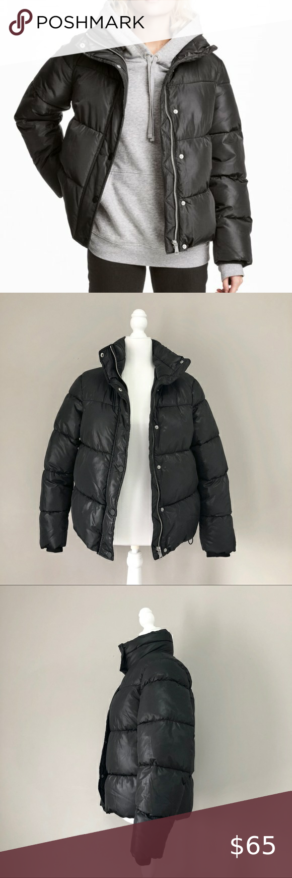H M L O G G Black Oversized Puffer Jacket Coat 6 Oversized Puffer Jacket Jackets Puffer Jackets [ 1740 x 580 Pixel ]