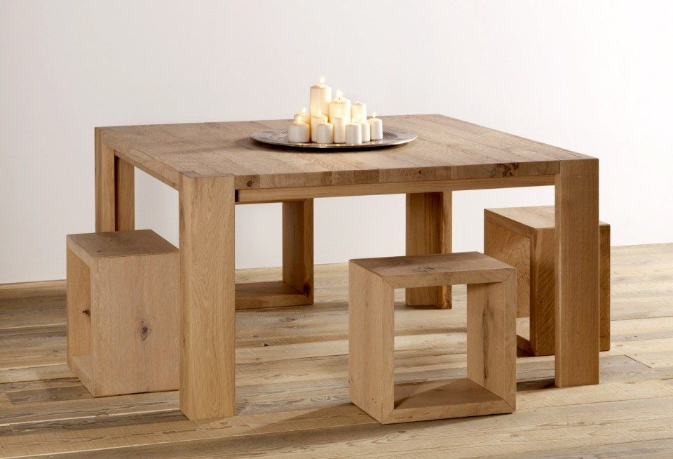 Tavolo quadrato in legno massello Tavolo quadrato legno