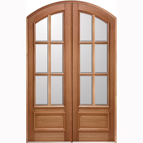 60 X 96 Unfinished Prehung Mahogany Exterior Double Door Unit Left Hand Surplus Warehouse Double Doors Exterior Mahogany Wood Doors Wood Doors Interior