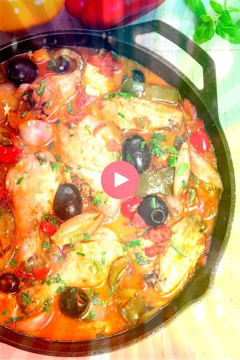 PROVENCAL traditional French recipe with bell peppers and shallots  Chicken Provencal is a French recipe perfect for the summer thanks to the fresh notes given from the h...