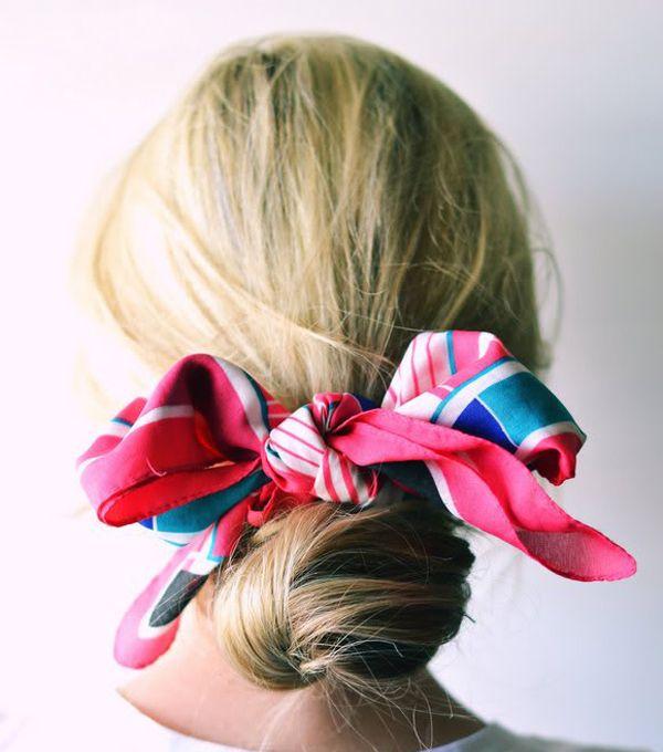Detalj u kosi: 10 načina da stilizujete maramu ovog proleća - Elle