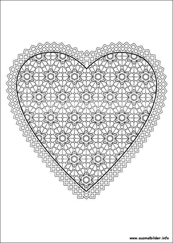 valentinstag malvorlagen  heart coloring pages pattern