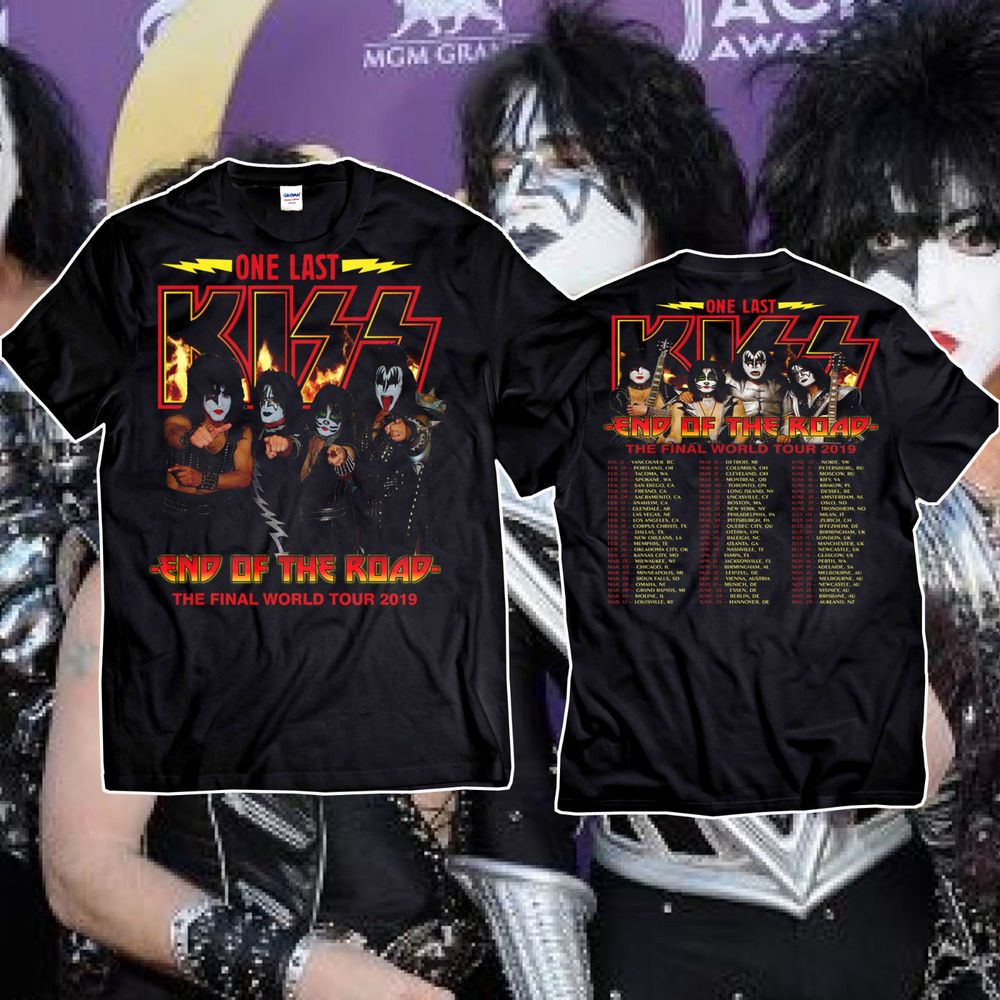 f5e16eb5 Kiss 'End of the Road' Farewell Tour Dates 2019 T-shirt For Men Size S-3XL  #fashion #clothing #shoes #accessories #mensclothing #shirts (ebay link)