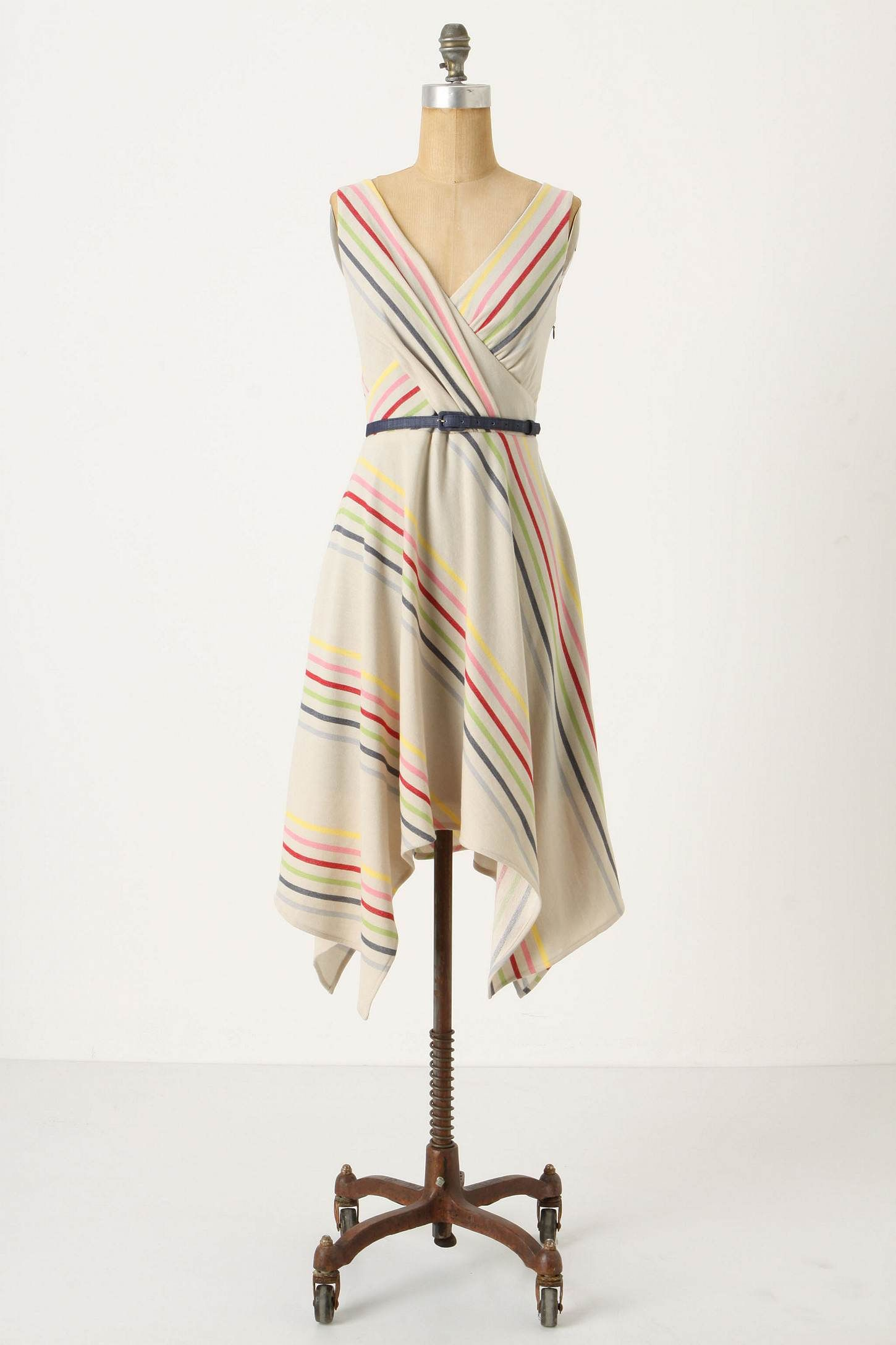 crossing the stripes dress co anthropologie mode