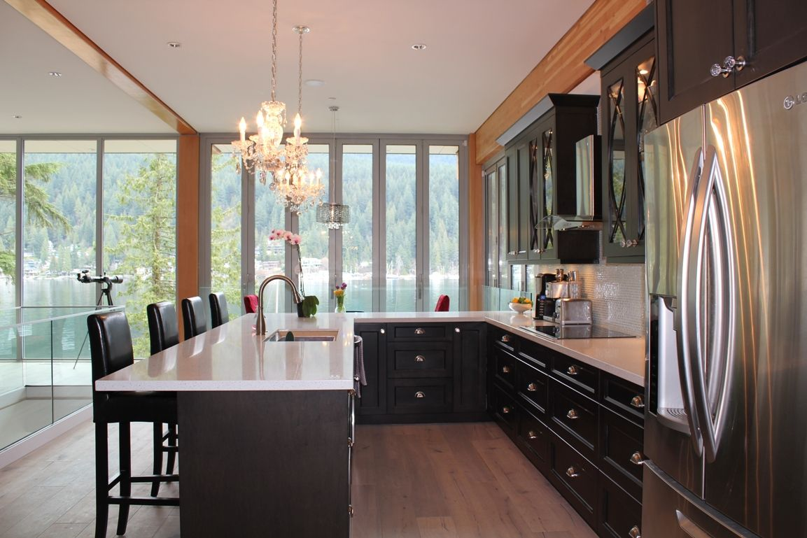 Deep Cove New Construction Kitchen. Espresso stained