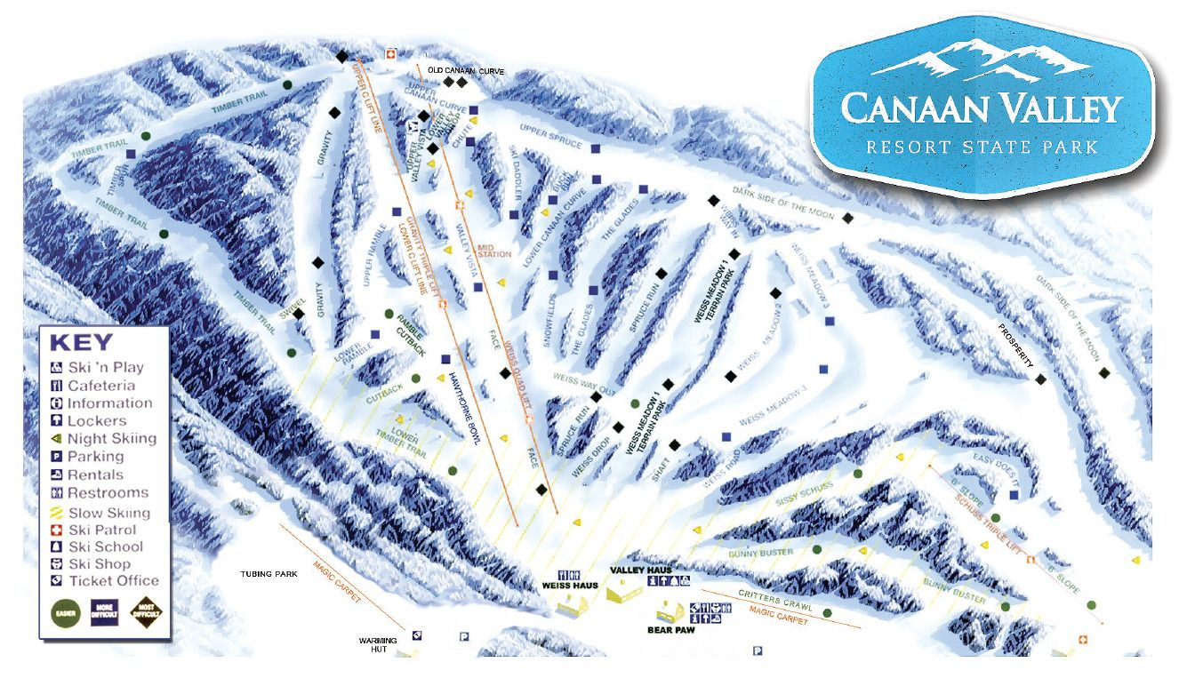 Canaan Valley Resort Trail Map | Megan's Bachelorette Party in 2019 on
