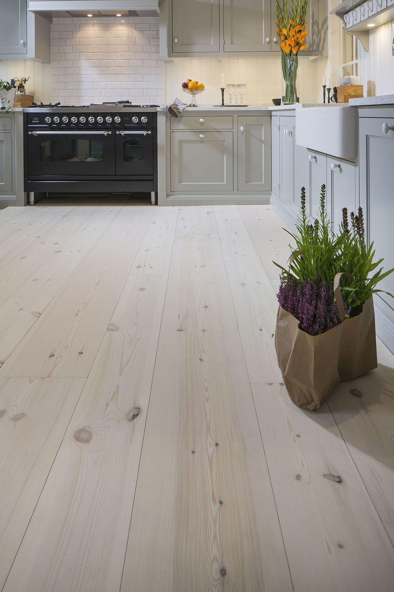 Lyed And Whiteoiled Pine Floors From Rappgo Pine Wood Flooring Kitchen Flooring Floor Design