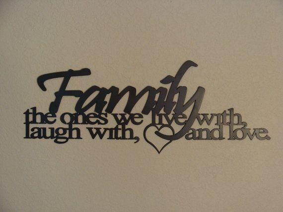 Family Ties 16 Gauge Metal Word Art Wall By Metalheadartdesign, $52.99