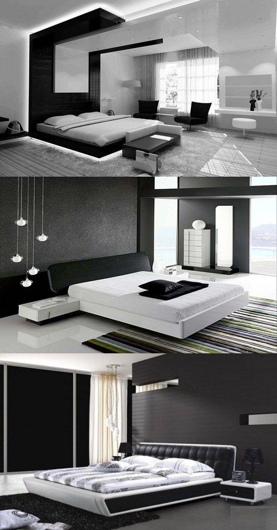 Modern Black And White Bedroom Design Ideas Dormitorio De Lujo