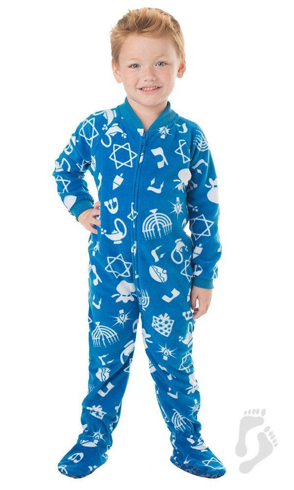 Amazon.com  Footed Pajamas Hanukkah Fun Toddler Fleece - Extra Large   Clothing 4a96c160f