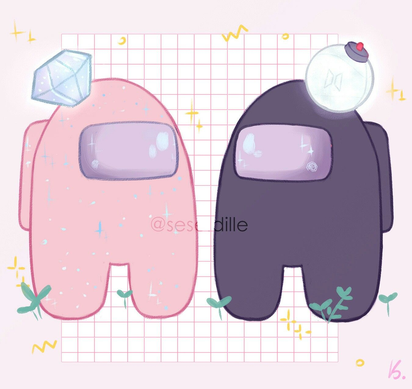 Among Us Cute Cartoon Wallpapers Wallpaper Iphone Cute Cute Stickers