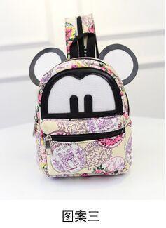 719c448c76 Women Mini Backpack Cute Mickey Ears Leather Small Rucksack Laptop Bag Back  Pack Shoulder Straps Teenage Girls Mochilas Mujer