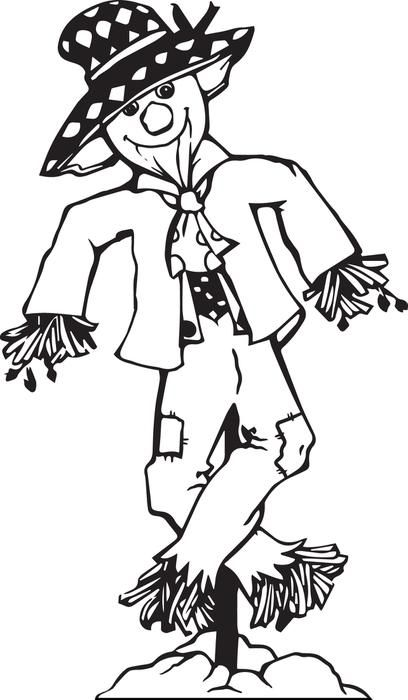 Printable Scarecrow Coloring Page For Kids Fall Coloring Pages