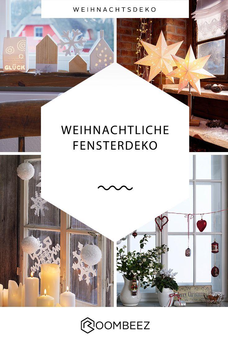 Weihnachtsdeko für Fenster & Fensterbank