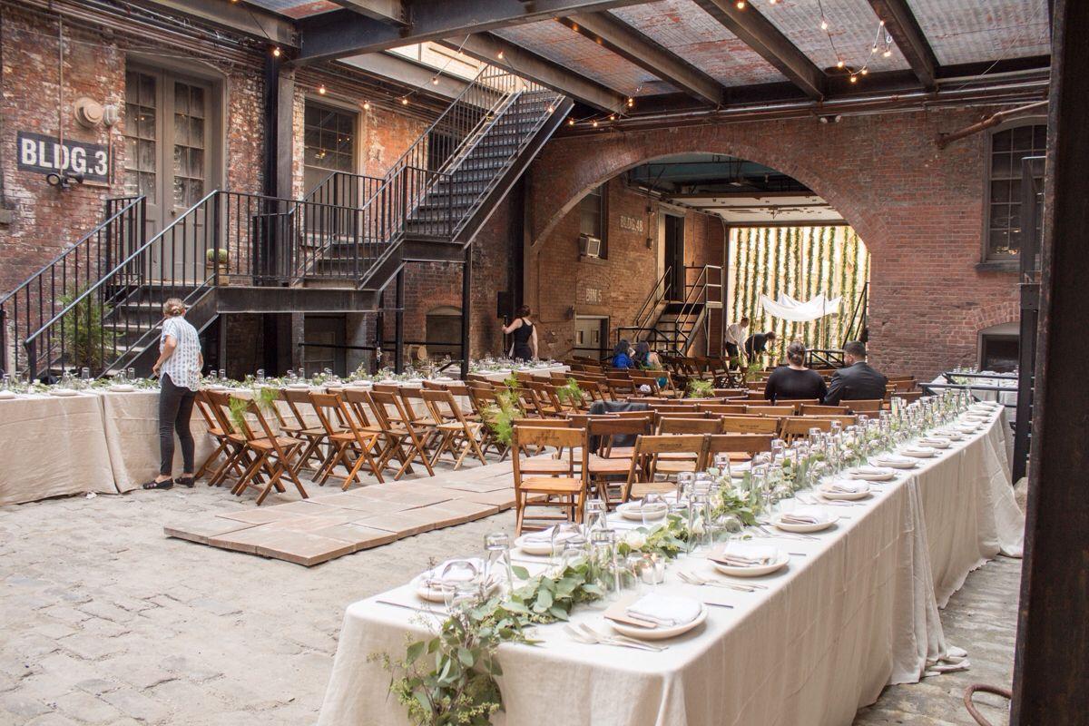 Cobblestone Courtyard Weddings, Glasserie, Brooklyn | Sissys