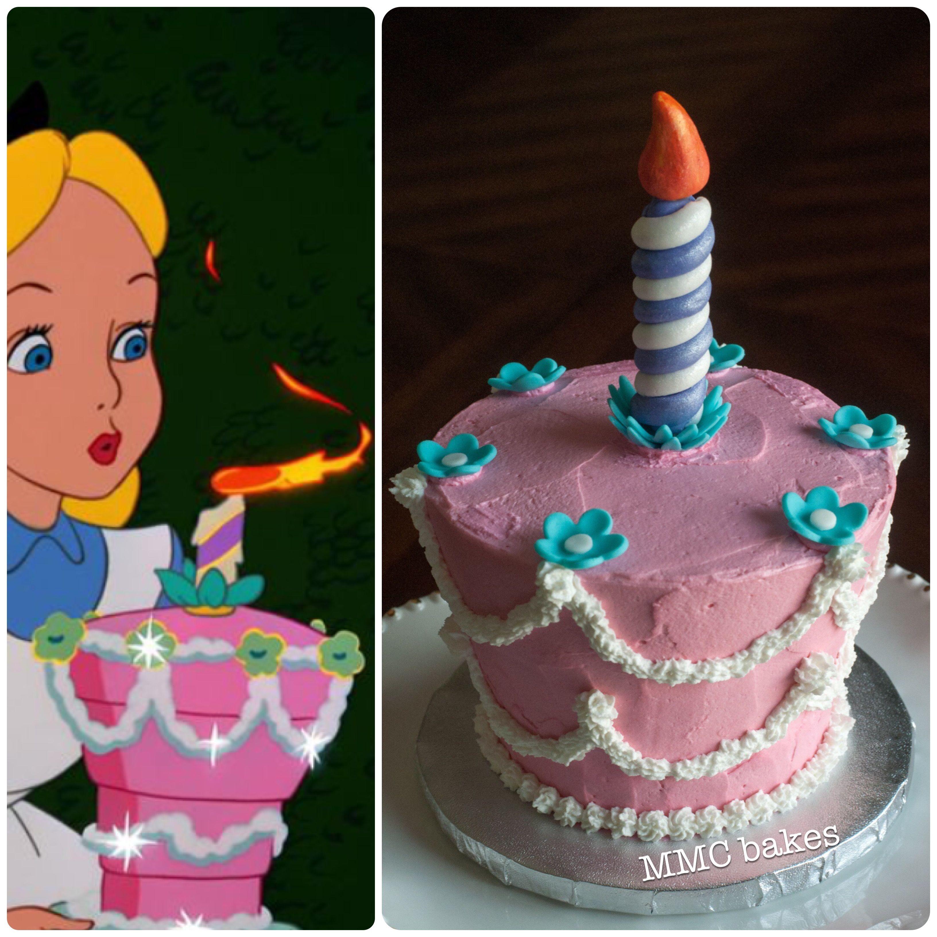 Alice In Wonderland Smash Cake Smash Cake 1st Birthday
