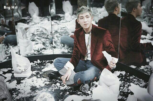 ❣ Looks like he's having fun.  - { #bts #wings #concept #2016 #kpop #perfect #btsarmy #방탄소년단 #music #rapmonster #namjoon #kimnamjoon #ryan #rapper #singer #leader #김남준 #남준 }