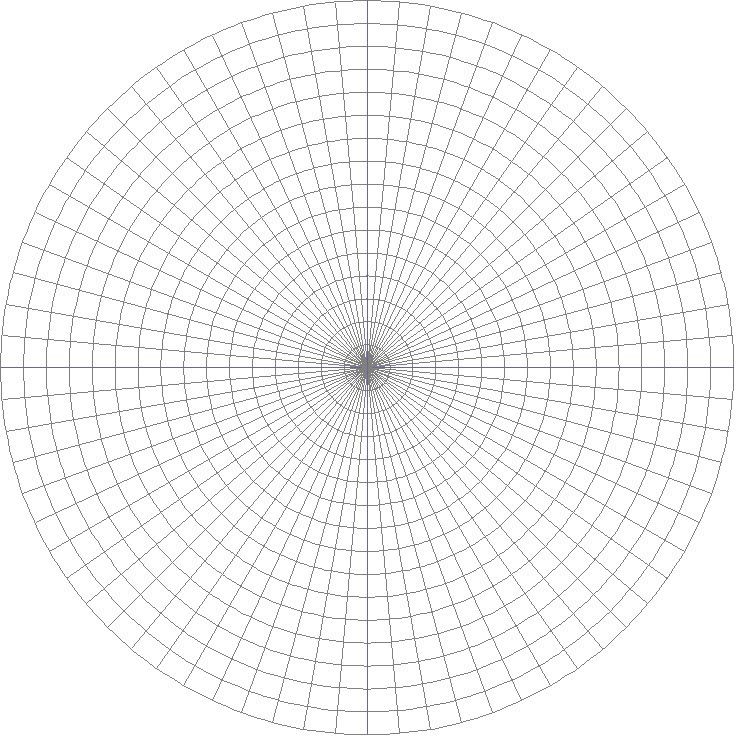 dream it then create it circular grid 5 degree sections draw