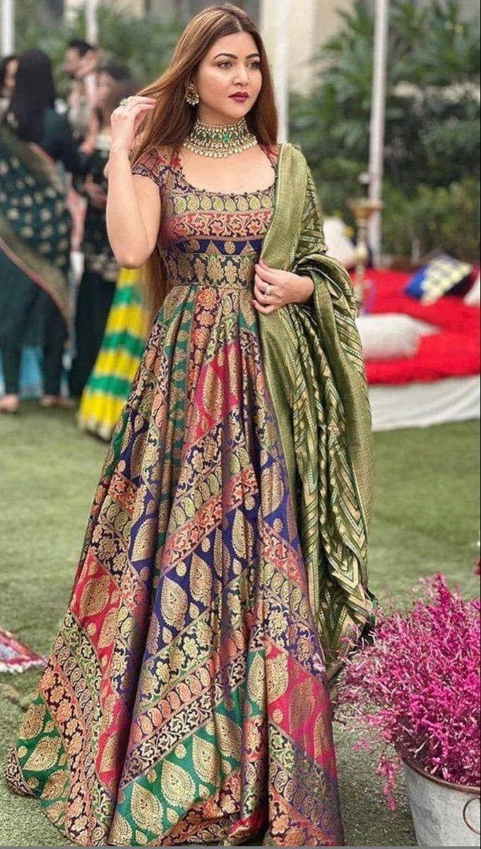 Designer Tapeta Silk Fully STITCHED kurti with Taf