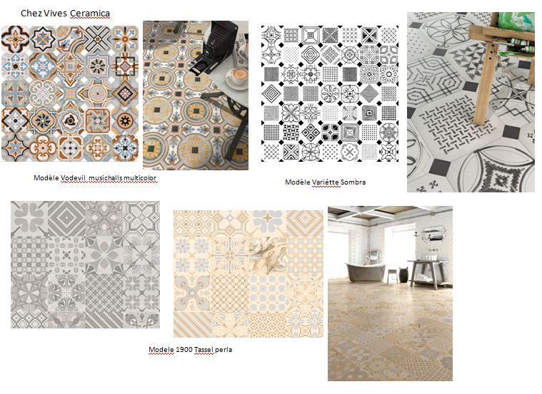 Carreaux de ciment effet patchwork vives ceramica for Patchwork carreaux de ciment