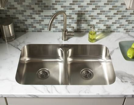 Karran Edge E 250 Stainless Steel Undermount Sink In A Laminate