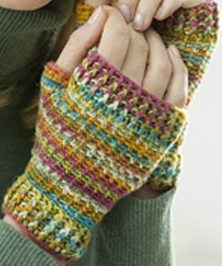 Pin by kim barnewold on crochet pinterest crochet tunisian short crochet wristers crocheted ladies glove pattern by coats and clark free crochet pattern planet purl dt1010fo