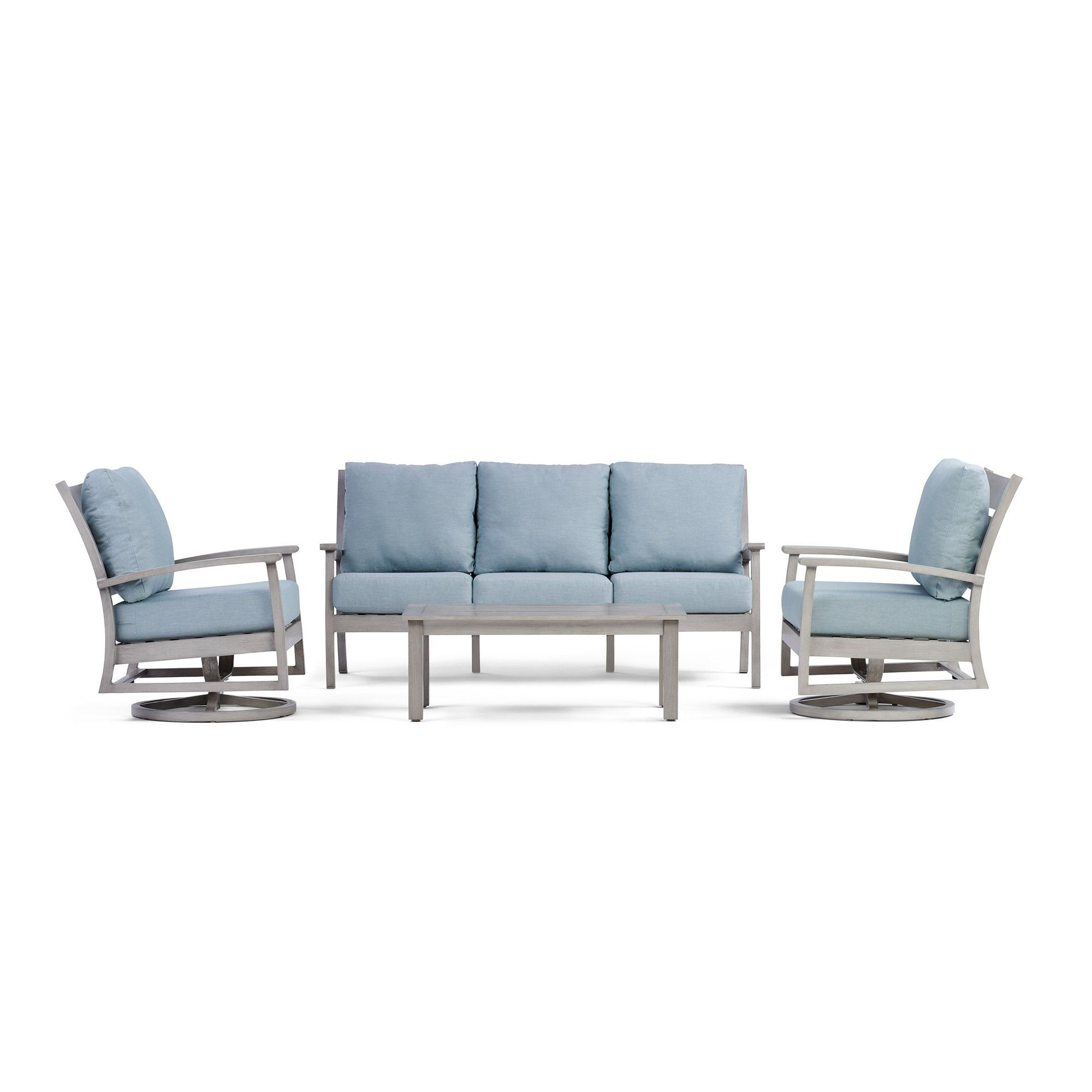 Eden Outdoor Sofa Set with Swivel Rocking Chairs Outdoor