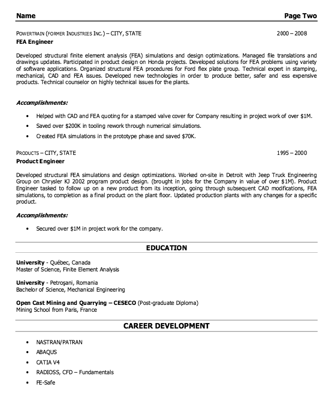 select template heavy cv generated by onlinecvgenerator free cv - Structural Engineer Resume