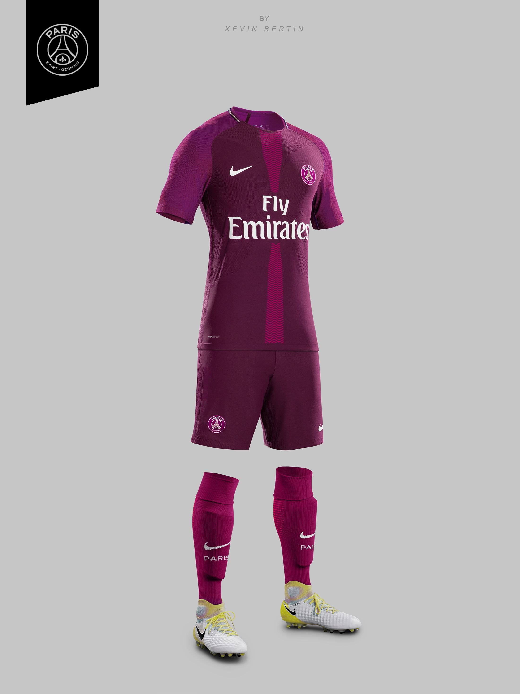 1b0d6a52dc2 PSG Concept Design by Kevin Bertin Jersey Maillot 2018-2019 Kit away Paris  Saint-Germain