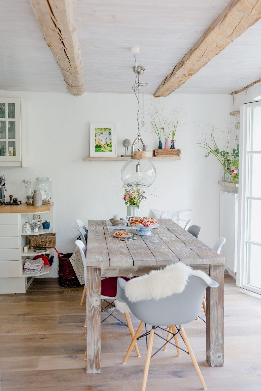 Esszimmer dekor wohnung landhausstil mit blumen dekorieren  wohnen  pinterest  ikea