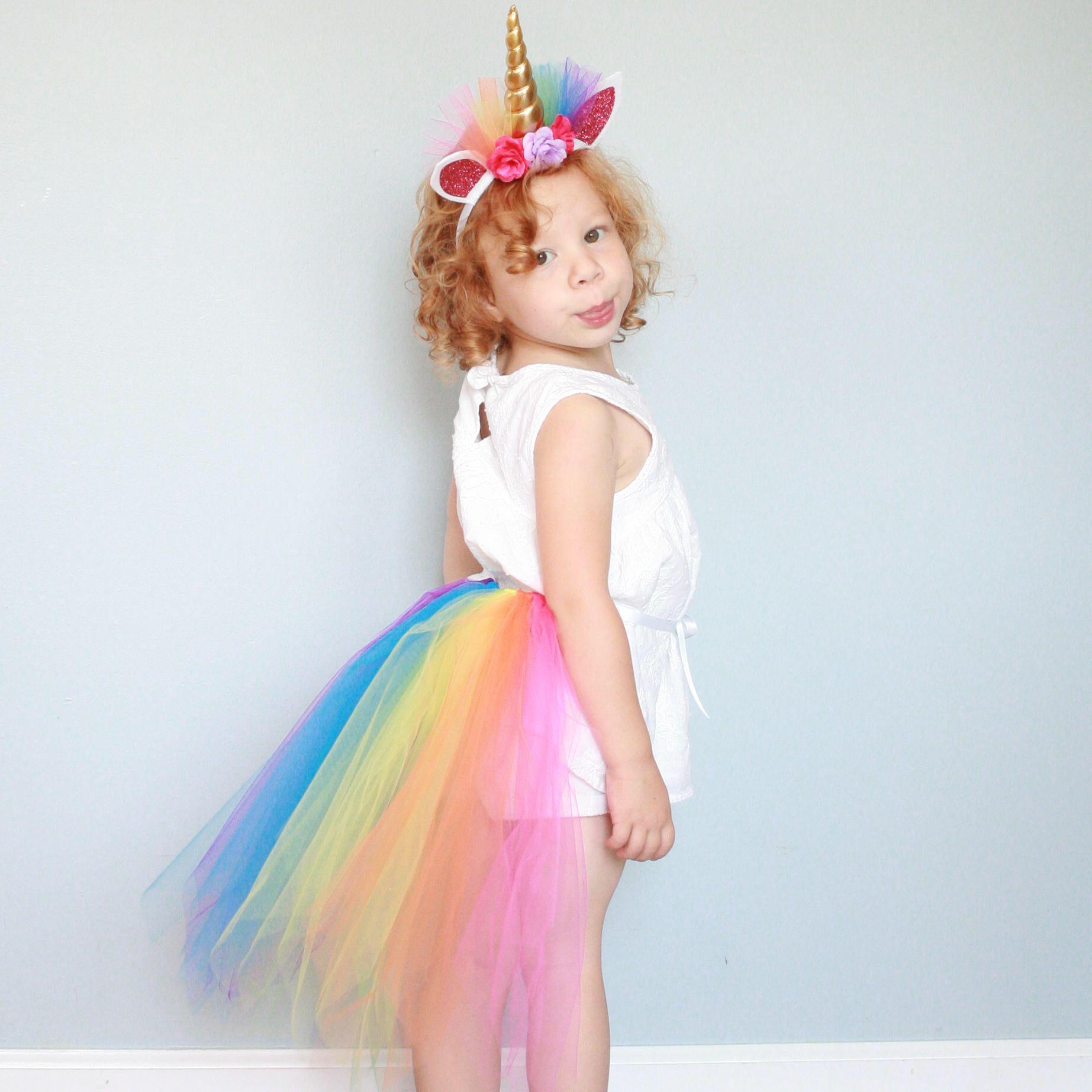Rainbow Unicorn Costume Girls Unicorn Costume Rainbow Unicorn