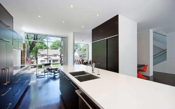 Fraser Residence In Ottawa Sieht Wie Eng Gebundenen Bänden Gestapelt  Schlafzimmer Schmucklose Einfachheit, Eco Design