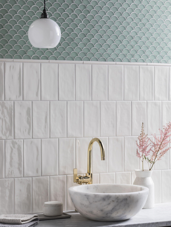 Paintbox Bone Gloss Decorative Tile Mouldings Baths Interior