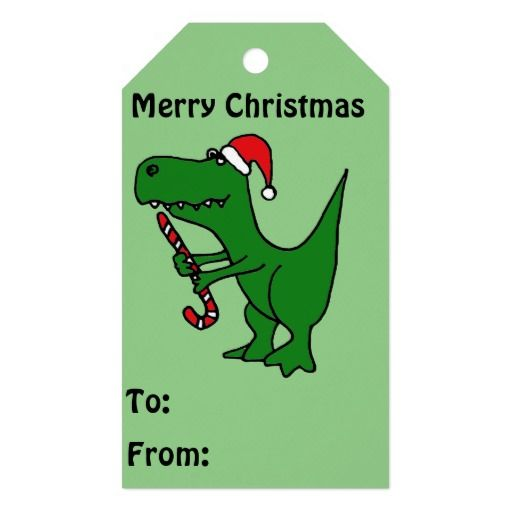 T Rex Christmas.Funny T Rex Dinosaur Christmas Gift Tags Zazzle Com