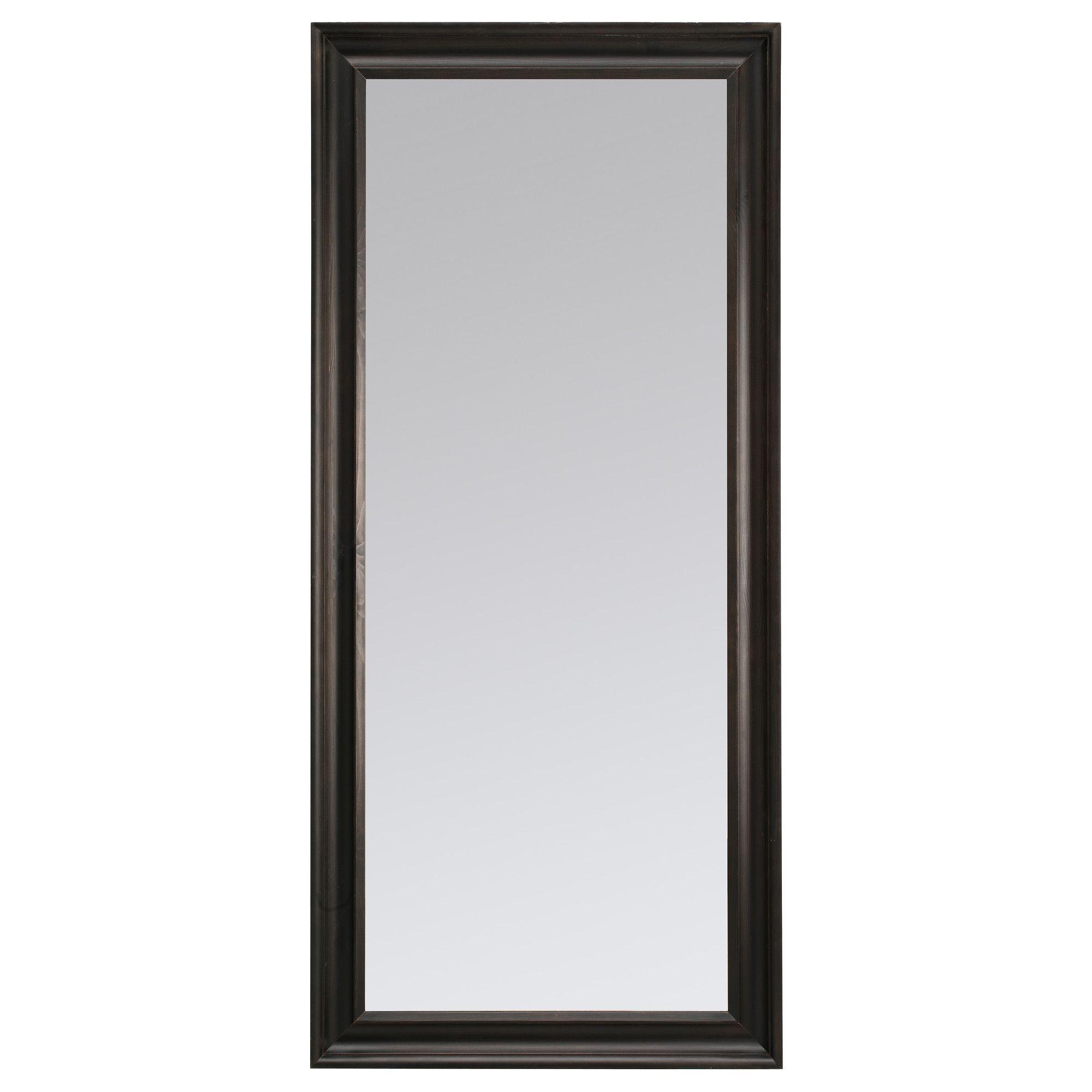 HEMNES Spegel, svartbrun Badrum, House och Inredning