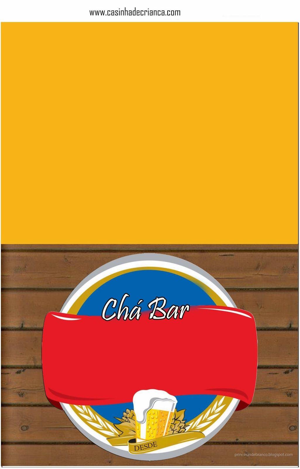 Kit Festa Cha Bar Para Imprimir Gratis Em 2020 Convite De