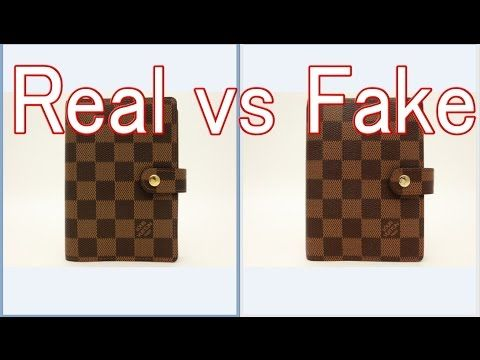 19400697e195 Real vs Fake Louis Vuitton Damier Agenda fonctionnel PM Diary cover R20700  LV - YouTube