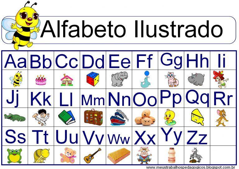 Alfabeto Completo Da Lingua Portuguesa Abecedario Em 2020 Com