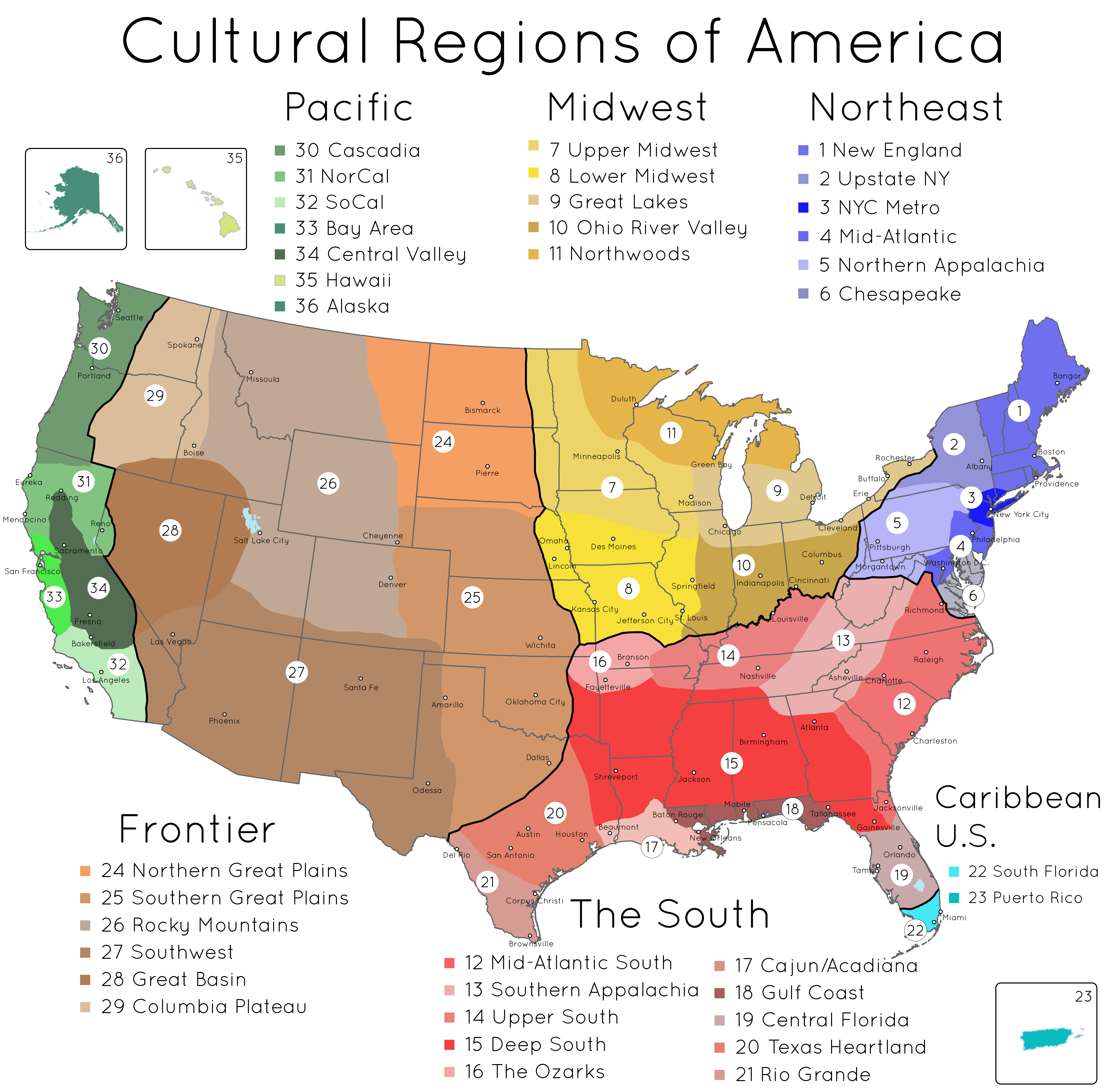 Cultural Regions Of The United States