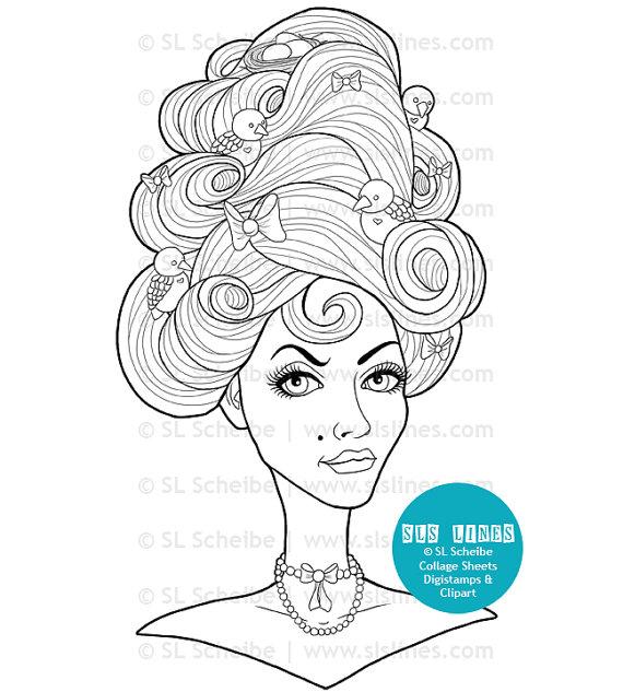adult coloring book pdf pretty ladies beautiful women