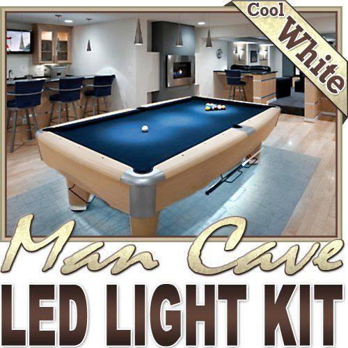 Biltek 16 4 Ft Cool White Man Cave Bar Pool Table Led Lighting Strip Dimmer Remote Wall Plug 110v Theatre Room Game Room Basement Led Strip Lighting